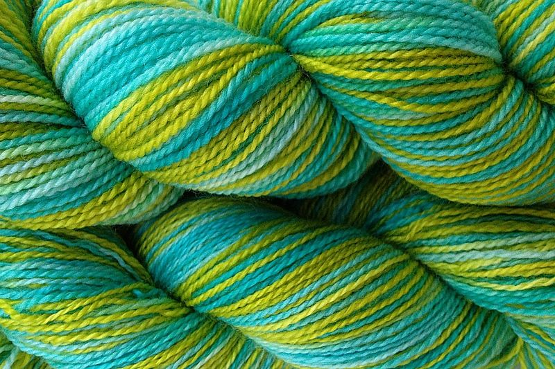 Lime Ice Hand Dyed Fingering Weight - product image