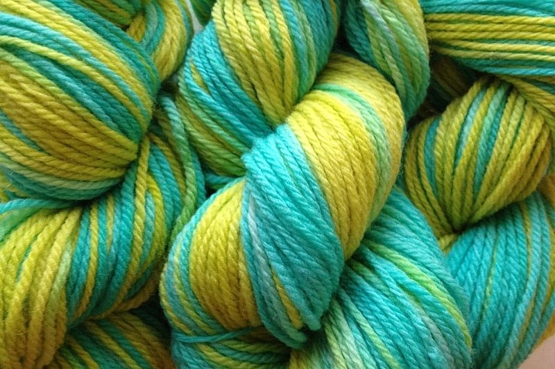 Lime Ice Hand Dyed Merino Wool Yarn DK / Sport Weight - product image
