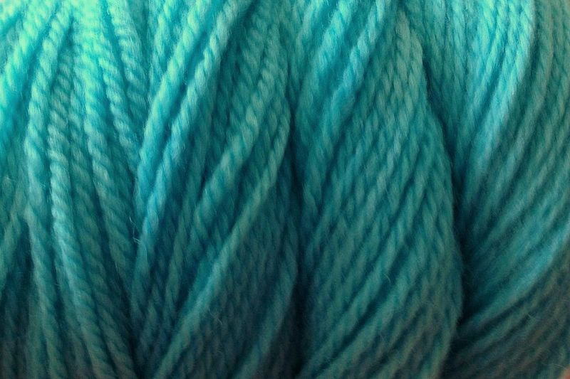 Ice Blue Hand Dyed Merino Wool Yarn Worsted Weight - product image