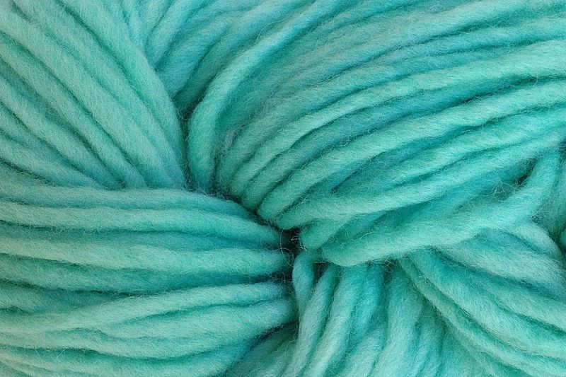 Ice Blue Hand Dyed Wool Pencil Roving - product image