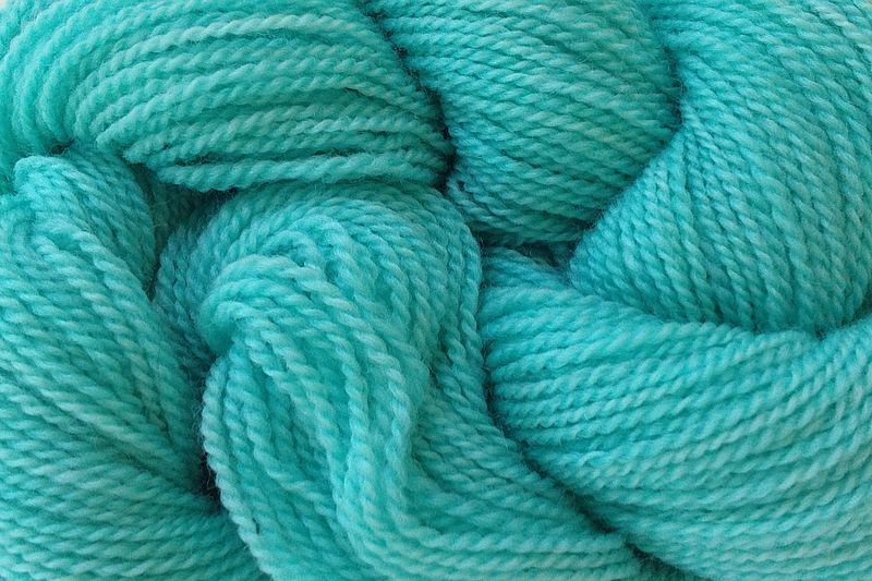 Ice Blue Hand Dyed Merino Wool Yarn Lace Weight - product image
