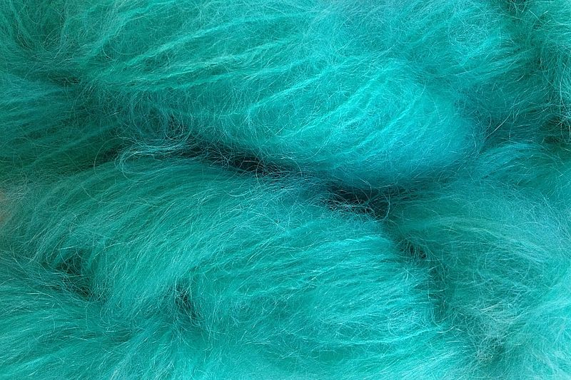 Ice Blue Mohair Yarn Fingering Weight Yarn - product image