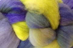 Early,Crocus,Hand,Dyed,Wool,Roving,Wool Roving Hand Dyed Green Blue