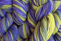 Early,Crocus,Hand,Dyed,Merino,Wool,Yarn,DK,/,Sport,Wt,Hand Dyed Merino Wool Yarn DK / Sport Green Blue