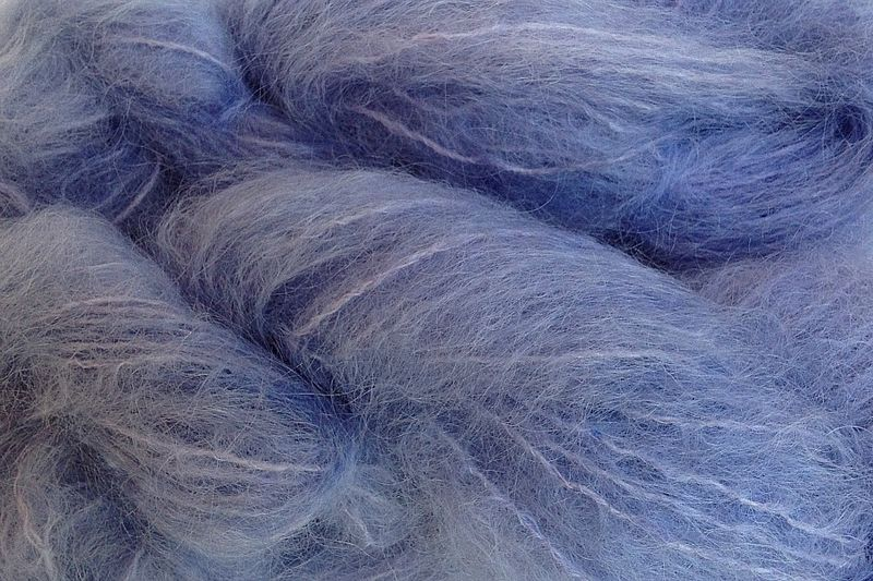 Crocus Blue Mohair Yarn Fingering Weight - product image