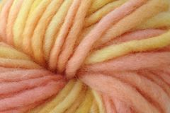 Spring,Melon,Hand,Dyed,Wool,Pencil,Roving,Bulky Wool Yarn Pencil Roving Hand Dyed Orange Yellow Pink