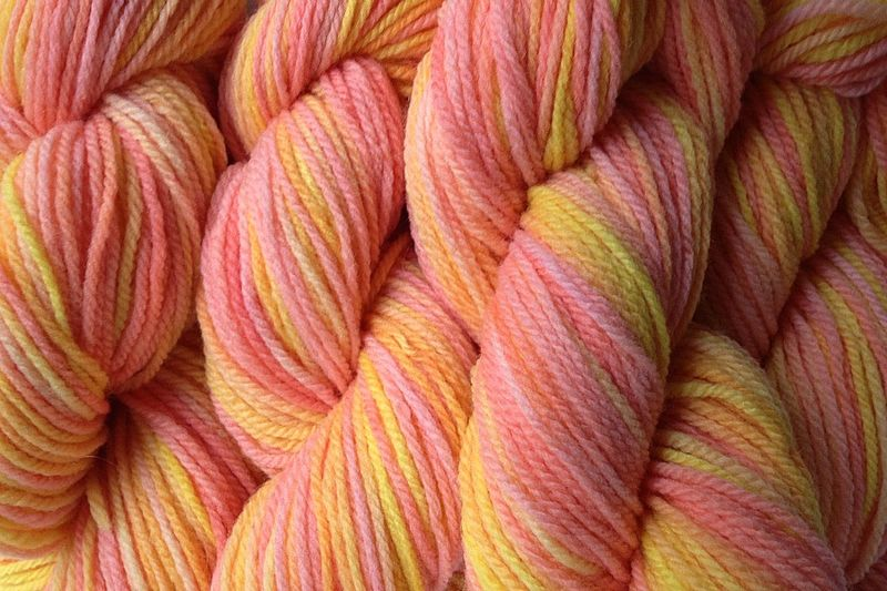 Spring Melon Hand Dyed Merino Wool Yarn DK / Sport Wt - product image