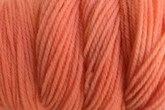Melon,Orange,Hand,Dyed,Merino,Wool,Yarn,DK,/,Sport,Wt,Hand Dyed Merino Wool Yarn DK / Sport Orange