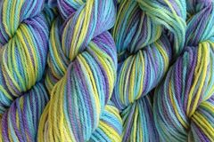 Mermaid,Cove,Hand,Dyed,Merino,Wool,Yarn,DK,/,Sport,Wt,Hand Dyed Merino Wool Yarn DK / Sport Aqua Purple Green