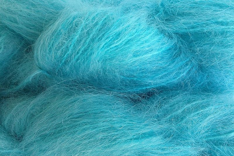 Aqua Cove Mohair Yarn Fingering Weight - product image