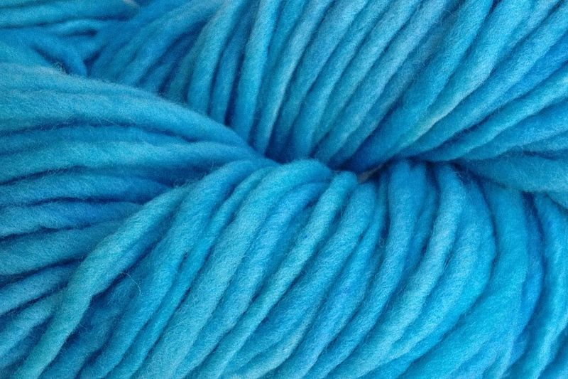 Sky Blue Hand Dyed Wool Pencil Roving - product image