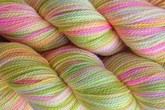 Mango,Tango,Hand,Dyed,Fingering,Weight,Merino Wool Yarn, Hand Dyed Yarn, Yellow Pink Green, Fingering Weight Yarn, Super Wash Sock Yarn, eweandmeyarns