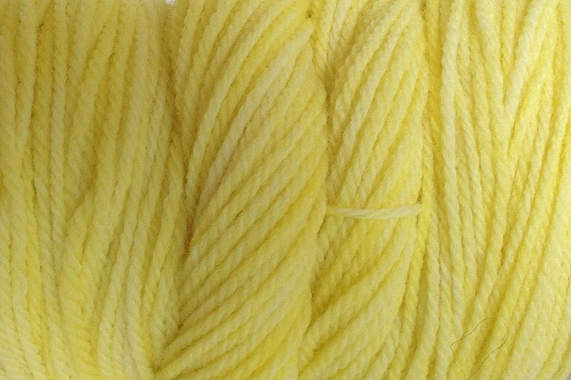 Tango Yellow Hand Dyed Merino Wool Yarn DK / Sport Wt - product image