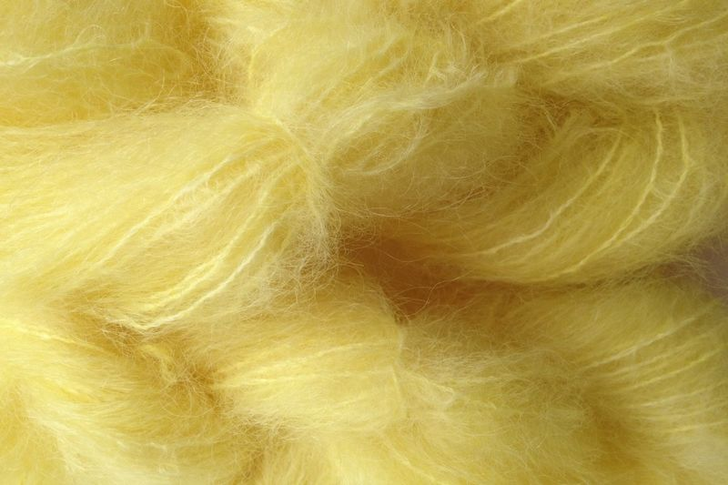 Tango Yellow Mohair Yarn Fingering Weight - product image
