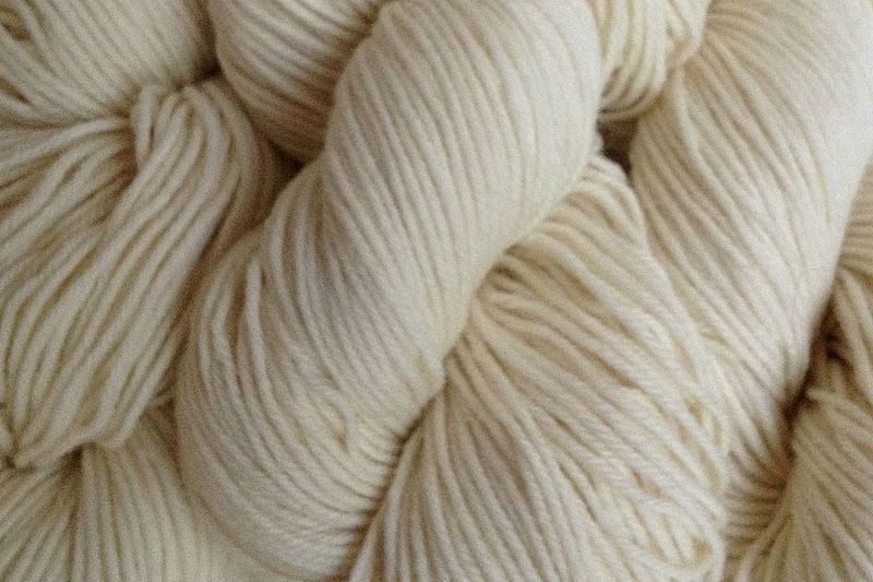 Tent White Hand Dyed Merino Wool Yarn DK / Sport Wt - product image