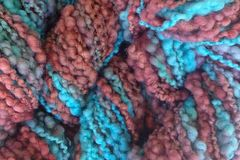 Frost,Bite,Hand,Dyed,Bumpy,Merino,Yarn,Bulky,Weight,Frost Bite 40 yards 2.5 ounces Bumpy Yarn Aqua Blue Burgundy Plum
