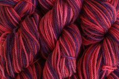 Hard,Candy,Hand,Dyed,Merino,Wool,Yarn,DK,/,Sport,Weight,Hand Dyed Merino Wool Yarn DK / Sport Purple Pink Red