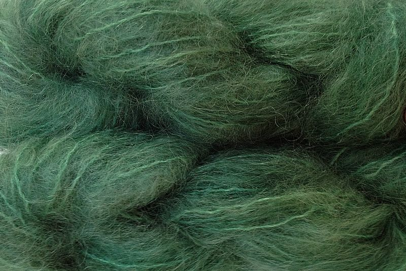 Avocado Green Mohair Yarn Fingering Weight - product image