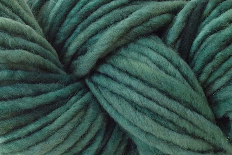 Avocado Green Hand Dyed Wool Pencil Roving - product image