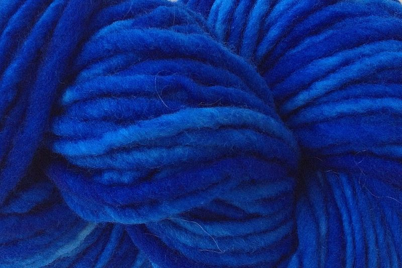 True Blue Hand Dyed Wool Pencil Roving - product image