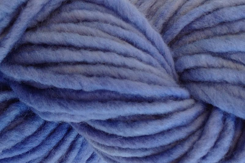 Crocus Blue Hand Dyed Wool Pencil Roving - product image
