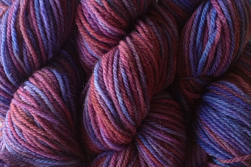 Pie Season Hand Dyed Merino Wool Yarn DK / Sport Wt - product image