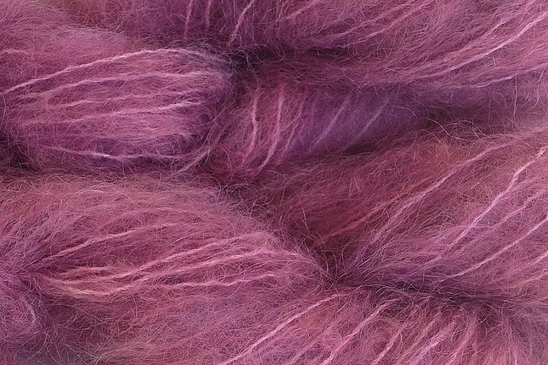Plum Pie Mohair Yarn Fingering Weight Yarn - product image