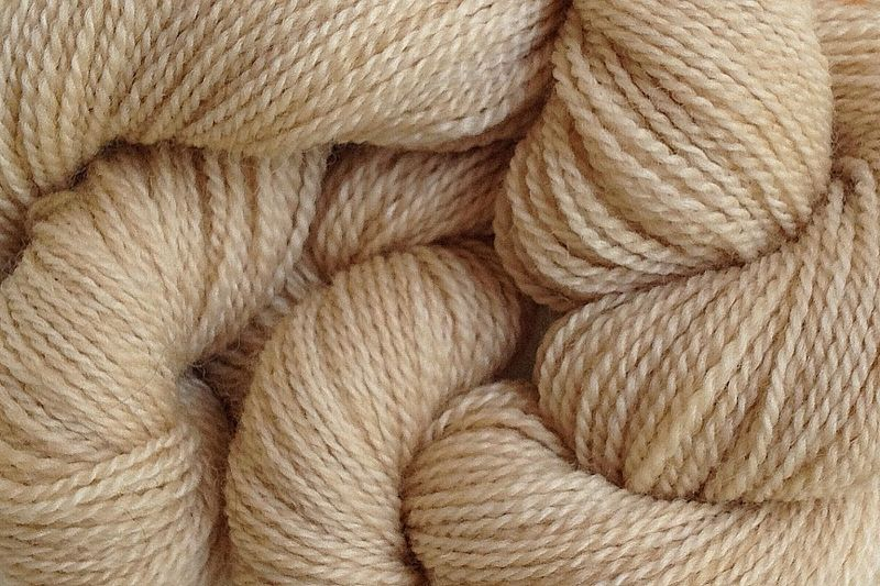 Paper Beige Hand Dyed Merino Wool Yarn Lace Weight - product image