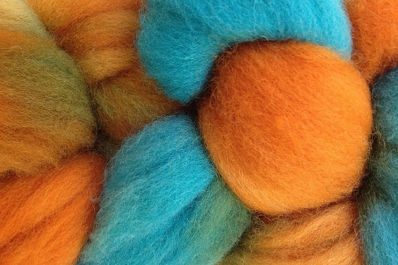 Hopi Land Hand Dyed Wool Roving - product image