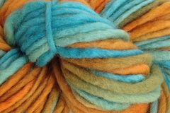 Hopi,Land,Hand,Dyed,Wool,Pencil,Roving,Bulky Yarn Hand Dyed Pencil Roving Turquoise Blue Orange eweandmeyarns