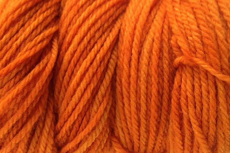 Land Orange Hand Dyed Merino Wool Yarn Worsted Wt - product image