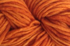 Land,Orange,Hand,Dyed,Wool,Pencil,Roving,Hand Dyed Merino Wool Yarn Pencil Roving Orange Bulky Weight eweandmeyarns
