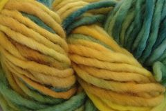 Dandelion,Daddy,Hand,Dyed,Wool,Pencil,Roving,Bulky Yarn Hand Dyed Yellow Green ewe and me yarns