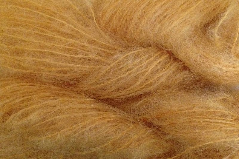 Blossom Orange Mohair Yarn Fingering Weight - product image