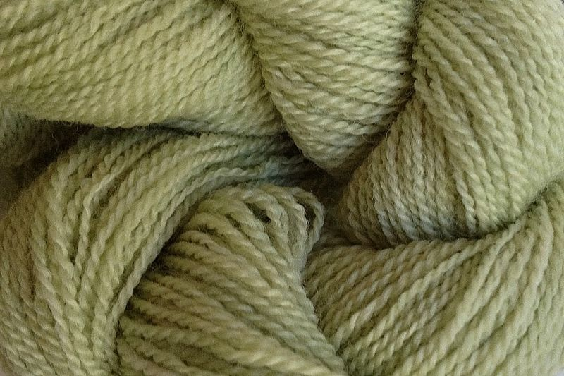 Shabby Green Hand Dyed Merino Wool Yarn Lace Weight - product image