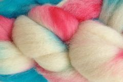 Circus,Tent,Hand,Dyed,Wool,Roving,Wool Roving Hand Dyed Red Turquoise Natural White