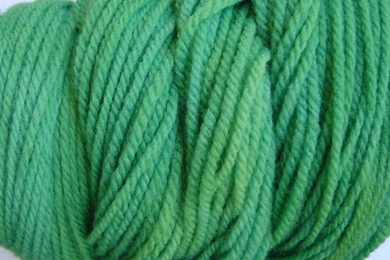 Daddy Green Hand Dyed Merino Wool Yarn Worsted Wt - product image