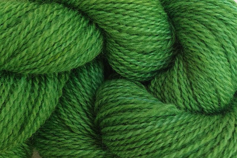 Daddy Green Hand Dyed Merino Wool Yarn Lace Weight - product image