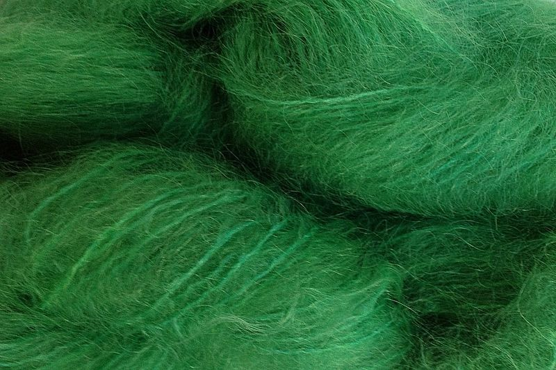 Daddy Green Mohair Yarn Fingering Weight - product image
