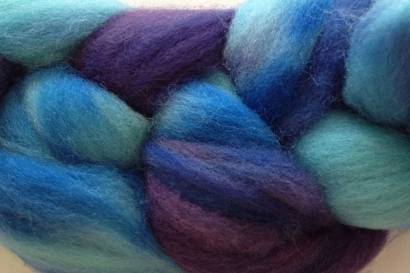 Twilight Sky Hand Dyed Wool Roving - product image