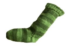 Hand,Knit,Christmas,Stocking,Green,and,Dark,Striped,Santa,Sock,Hand Knit Christmas Stocking Hand Knit Green and Dark Green Striped Santa Sock eweandmeyarns