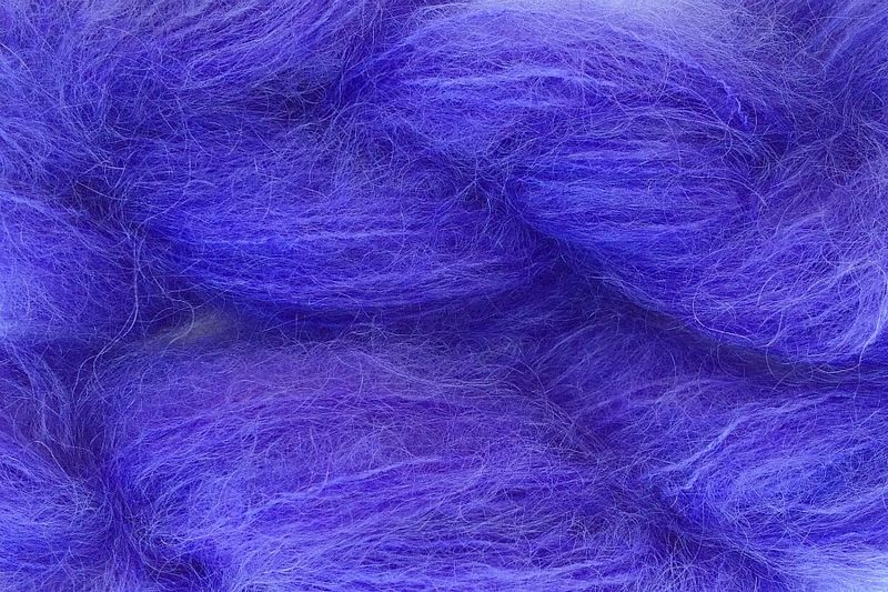 Sea Purple 1oz (28g) Mohair Yarn Fingering Weight - product image