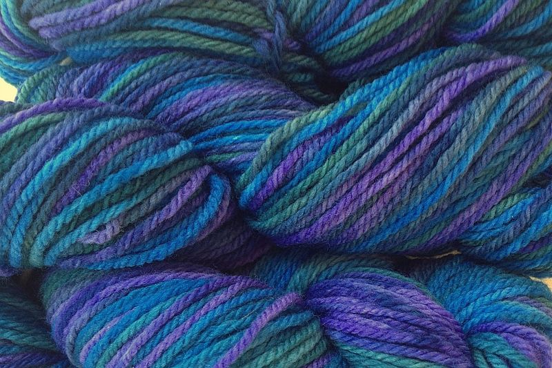 Sea Turtle Hand Dyed Merino Wool Yarn Worsted Weight  - product image