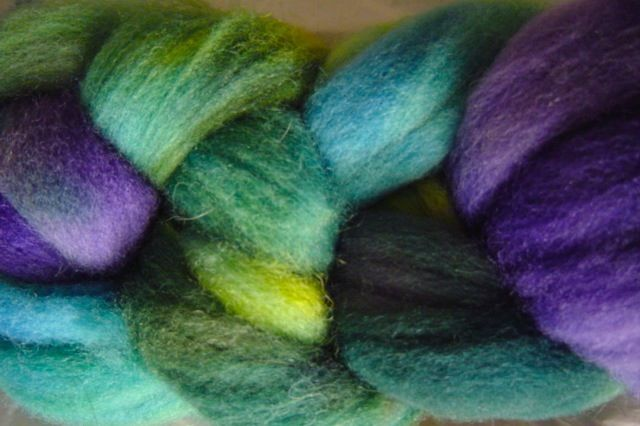 Sea Turtle Hand Dyed Wool Roving - product image