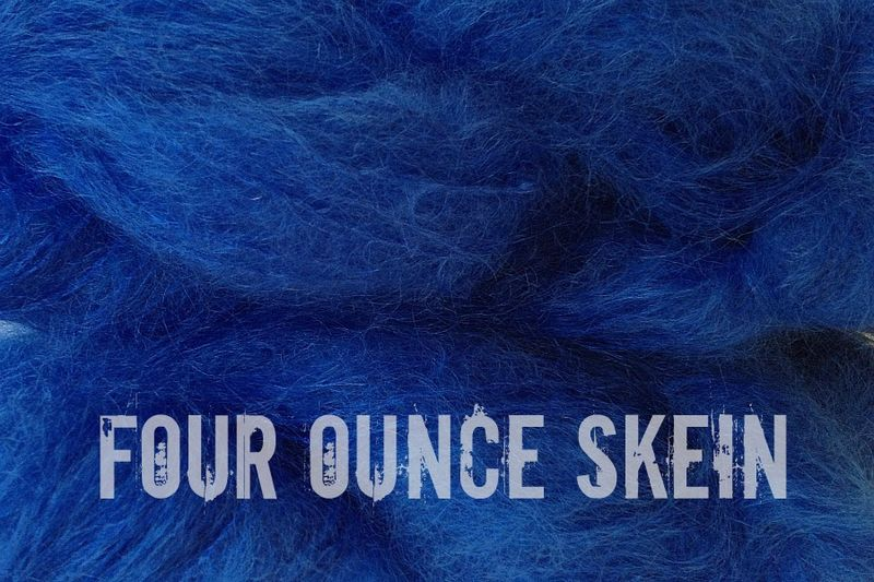 True Blue 4oz (116g) Mohair Yarn Fingering Weight - product image