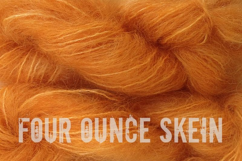 Land Orange 4oz (116g) Mohair Yarn Fingering Weight - product image