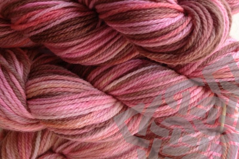 Pink Sand Hand Dyed Merino Wool Worsted Weight - product images  of