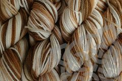 Rootbeer,Float,Hand,Dyed,Merino,Yarn,DK,/,Sport,Weight,Hand Dyed, Merino Wool Yarn, DK / Sport Weight, Brown, Natural White, Tan, Root Beer Float, 1.3 ounces, 40g, eweandmeyarns.com