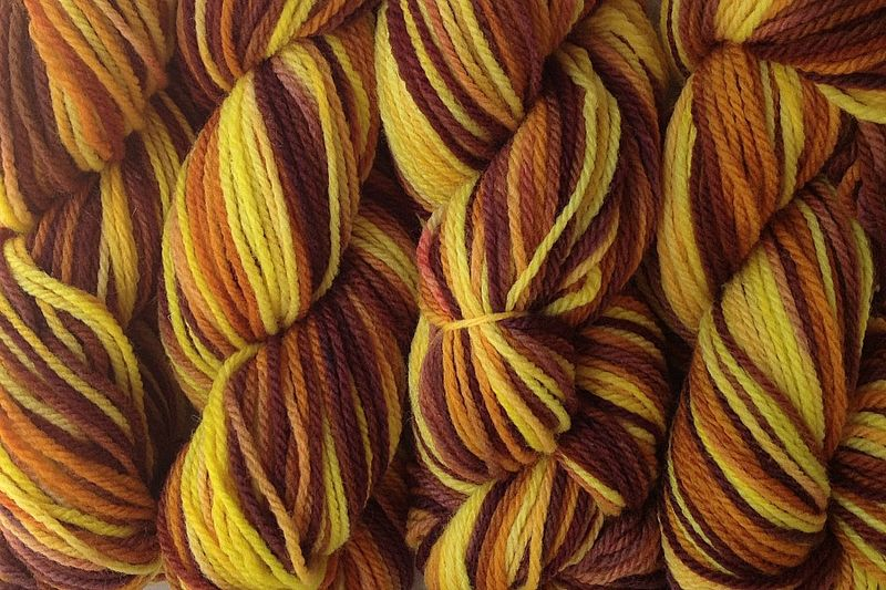 Marigold Mama Hand Dyed Merino Wool Yarn DK / Sport Wt - product images  of