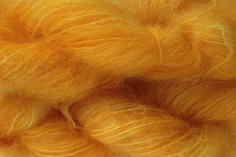 Mama Orange Mohair Yarn Fingering Weight - product images  of
